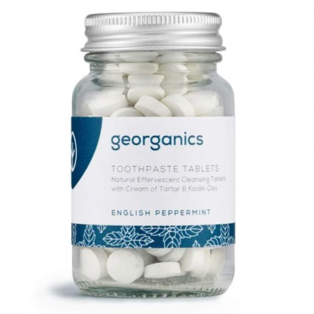 Georganics Natural Toothpaste Toothtablets (120 tabs) - English Peppermint