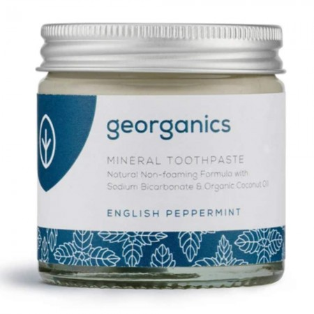 Georganics Natural Mineral-Rich Toothpaste 60ml - English Peppermint