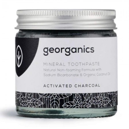 Georganics Natural Mineral-Rich Toothpaste 60ml - Activated Charcoal