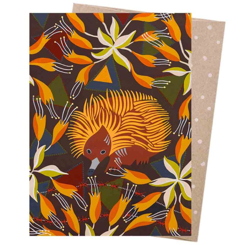Earth Greetings Card - Echidna At Dusk