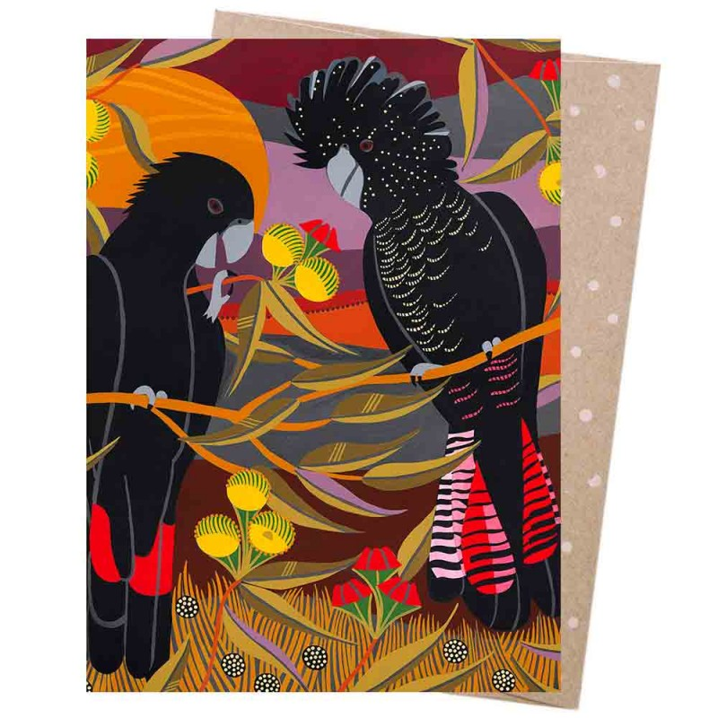 Earth Greetings Card - Red Tails