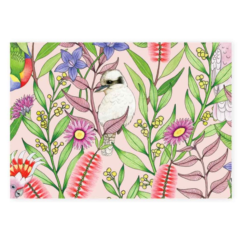 Earth Greetings Wrapping Paper - Australian Birdsong