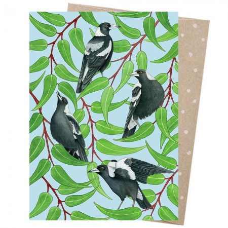 Earth Greetings Card - Magpies Warble