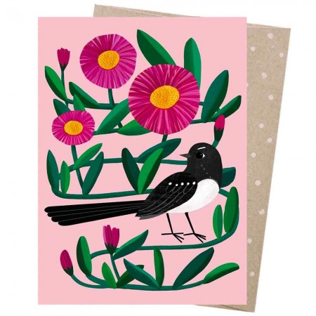 Earth Greetings Card - Willie Wagtail