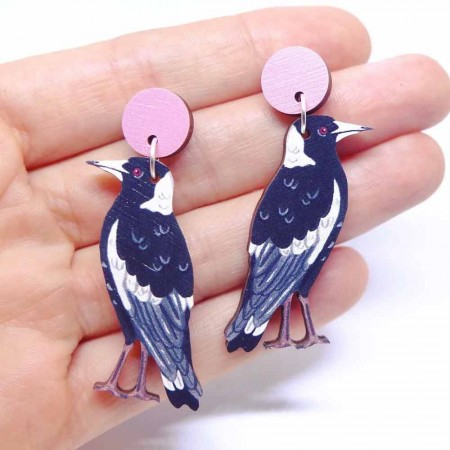 Pixie Nut and Co Magpie Earrings