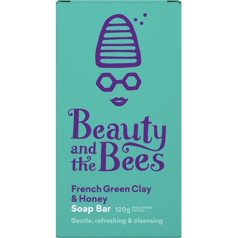 Beauty & the Bees Real Soap Bar 120g - French Green Clay & Honey