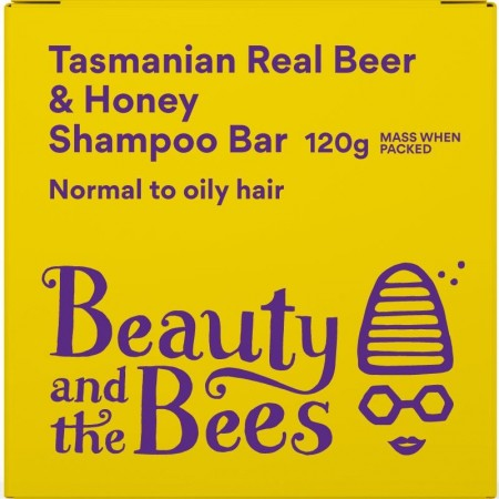Beauty & the Bees Real Beer & Honey Shampoo Bar 120g - Unscented