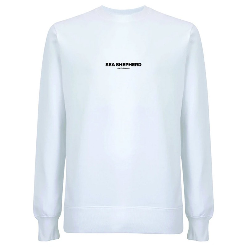 Sea Shepherd Stand Fast Unisex Embroidered Sweater - White