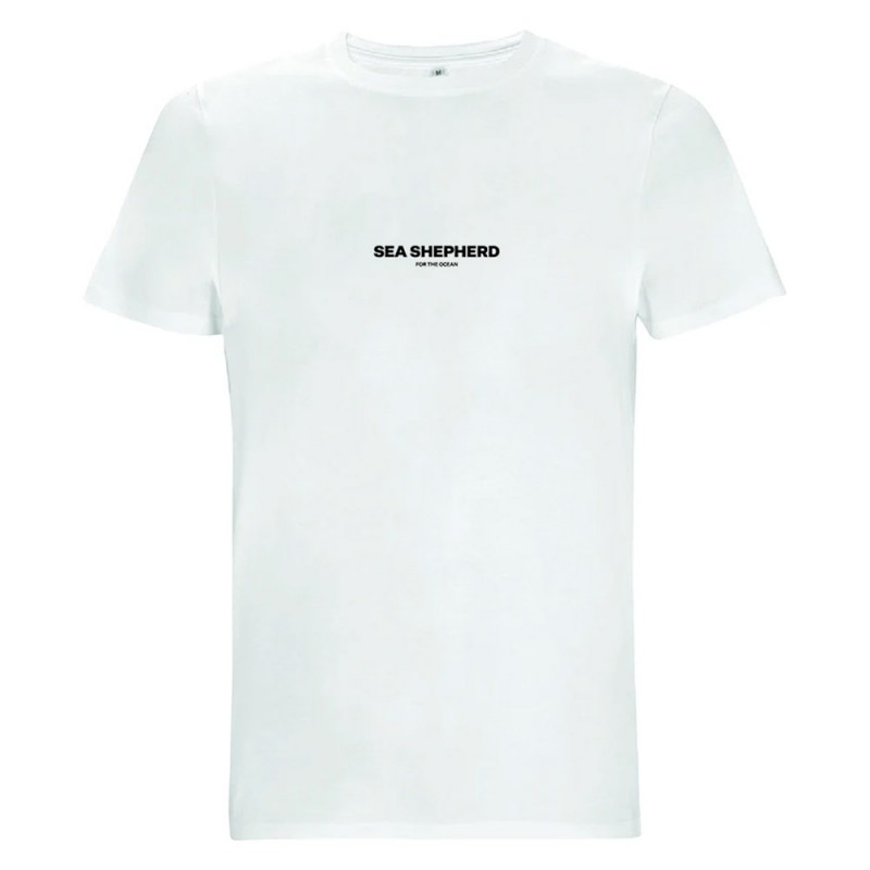 Sea Shepherd Stand Fast Unisex Embroidered Tee - White