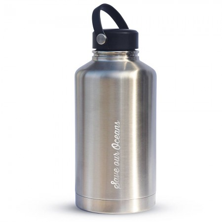 BBBYO BIGG Insulated Stainless Steel Bottle 1800ml 64oz - Silver
