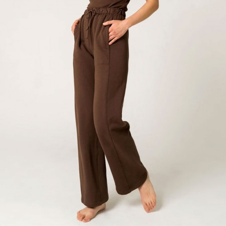 Form By T Wide Leg Tracksuit Pants - Chocolate