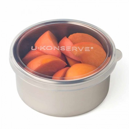 U Konserve Round To-Go Container Med 9oz/255ml - Clear Silicone