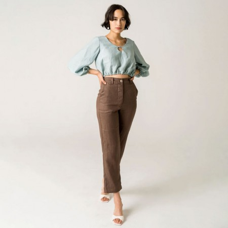 Form By T Aggie Pants - Chocolate