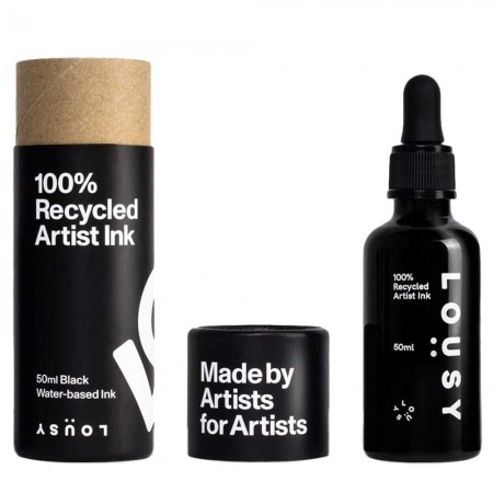 Lousy Recycled Water-Based Artist Ink 50ml - Black
