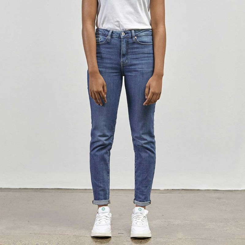 Outland Denim Lucy High Rise Jeans - New Blue
