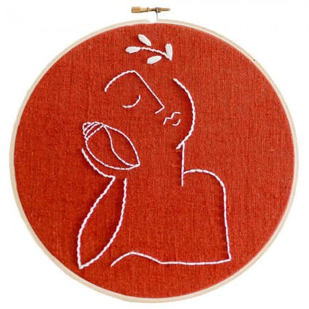 Brynn & Co. The Conch Shell Whisper Embroidery Kit - Terracotta