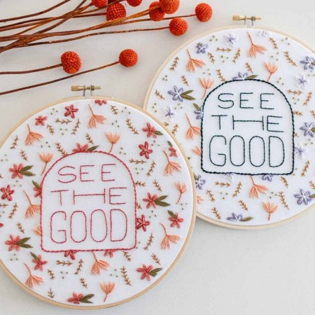 Brynn & Co. Embroidery Kit - See the Good