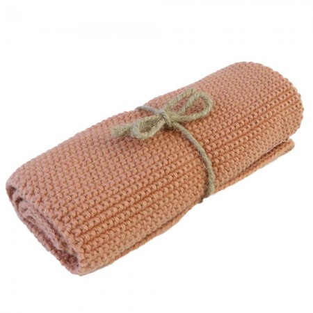 Brightwood Organic Cotton Face Washer All Purpose Cloth - Coral