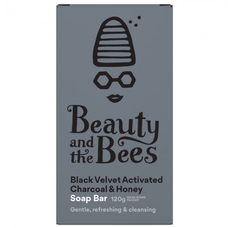 Beauty & the Bees Real Soap - Black Velvet Bamboo Charcoal