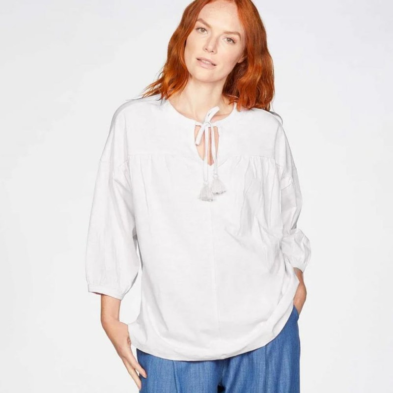 Thought Jersey Blouse - White