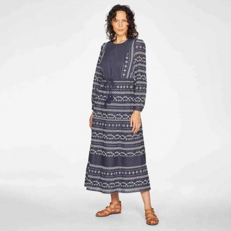 Thought Valentina Embroidered Maxi Dress - Navy