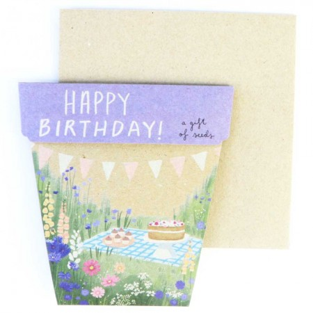 Sow 'n Sow Gift of Seeds Greeting Card - Happy Birthday Picnic