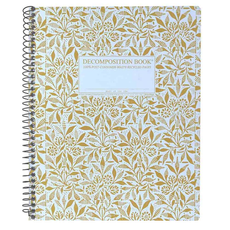 Decomposition Extra Large Spiral Notebook (Lined) - Fields of Plenty