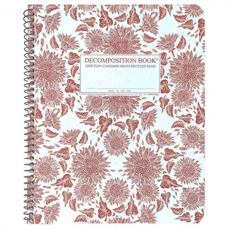 Decomposition Extra Large Spiral Notebook (Lined) - Sunflowers