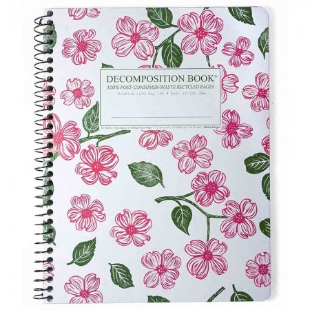 Decomposition Large Spiral Notebook (Lined) - Dogwood