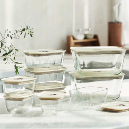 Neoflam Clik Glass Food Container - Set of 8