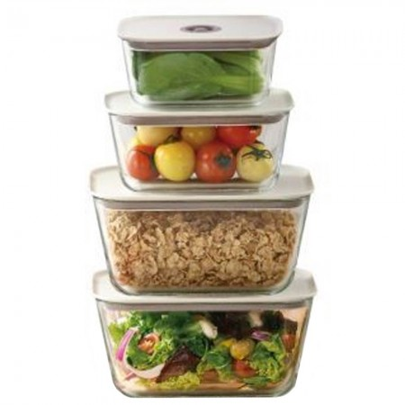 Neoflam Clik Glass Food Containers - Set of 4