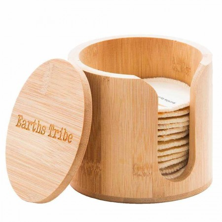 Earths Tribe Bamboo Makeup Round Holder