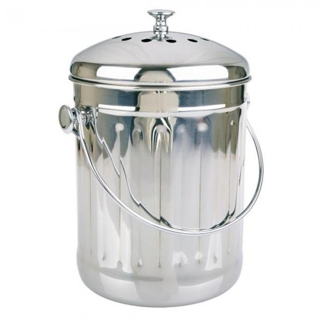 Appetito 4.5L Compost Bin - Stainless Steel