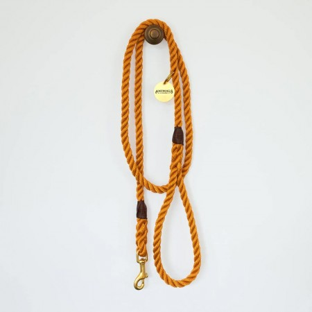 Animals In Charge All Weather Rope Leash - Harvest Yellow Brass