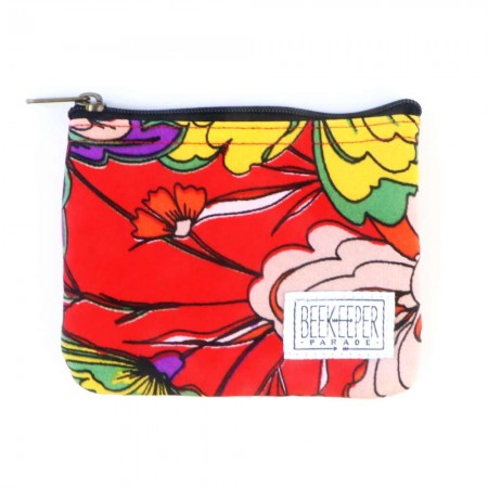 Beekeeper Parade Coin Purse - Red Bloom
