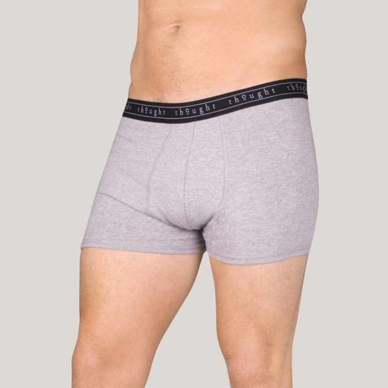 Thought Mens Boxer Brief - Grey Marle