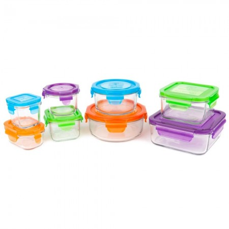 Wean Green Glass Containers 8 pack - Kitchen Starter Set