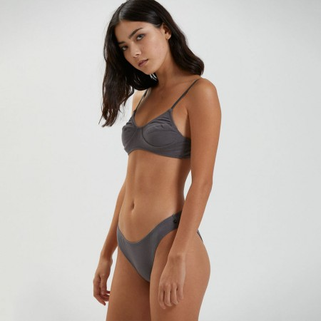 Afends Lolly Hemp Bralette - Charcoal