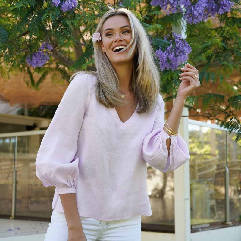 Humidity Promise Blouse - Lilac Pink
