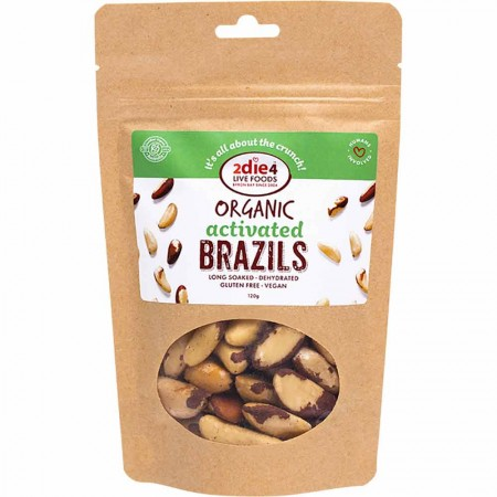 2DIE4 Live Foods Organic Activated Brazil Nuts 120g