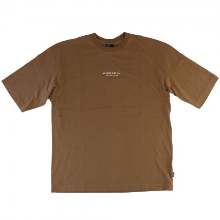 Afends Men's Supply Recycled Oversized Fit Tee - Camel