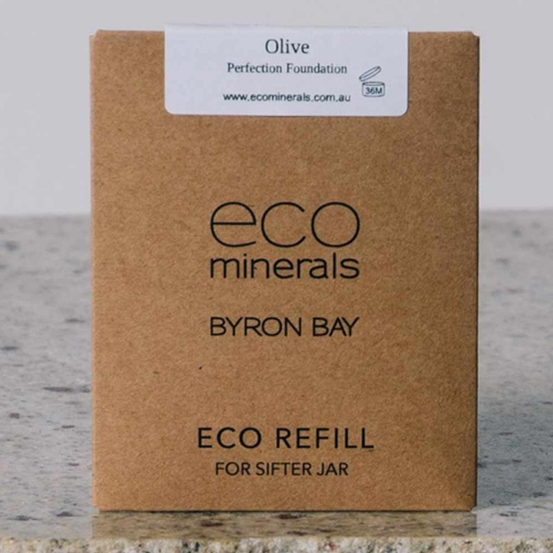 Eco minerals foundation 5g REFILL sachet - flawless olive