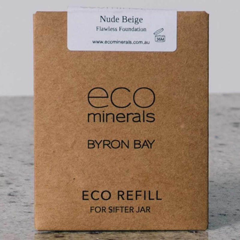 Eco minerals foundation 5g REFILL sachet - flawless nude beige
