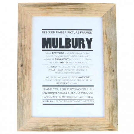 Mulbury Rescued Timber Picture Frame Original A4 - Natural