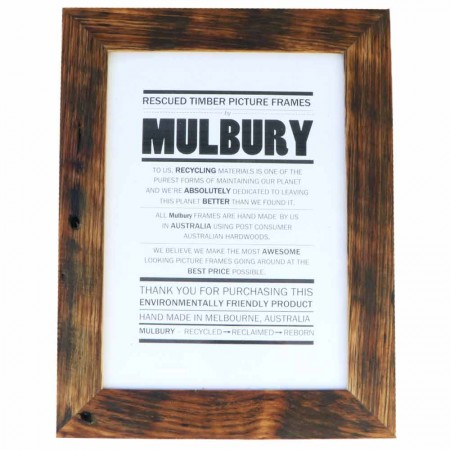 Mulbury Rescued Timber Picture Frame Original A4 - Oiled