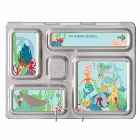 PlanetBox Rover Kit MERMAID LAGOON (Box, Containers, Magnets)