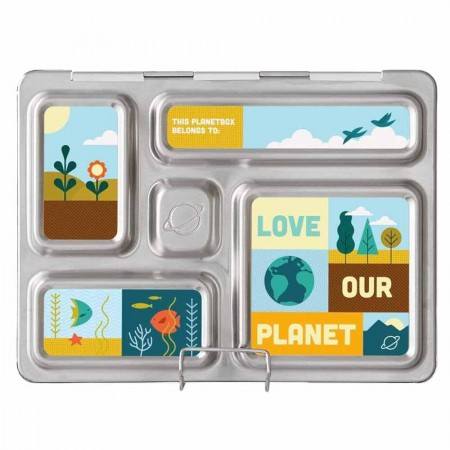 PlanetBox Rover Kit LOVE OUR PLANET (Box, Containers, Magnets)