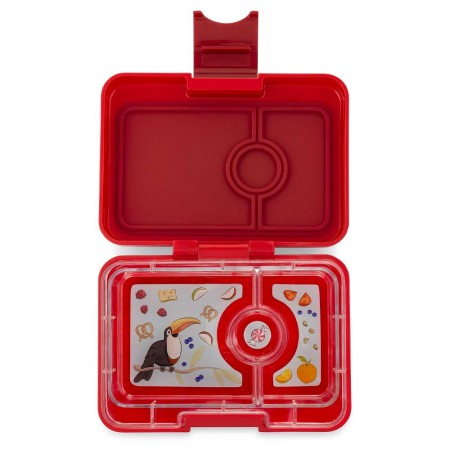 Yumbox MiniSnack 3 Compartment - Wow Red