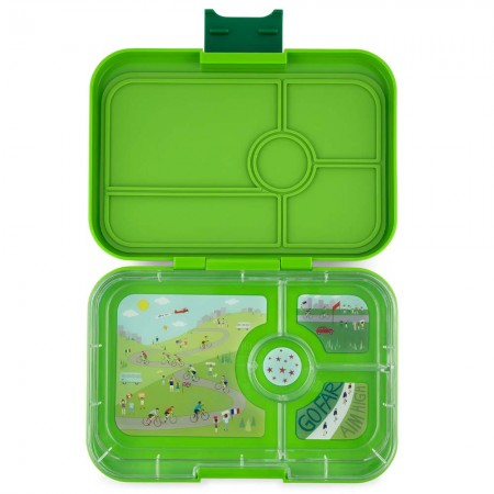 Yumbox Lunch Box Tapas 4 Compartment - Go Green