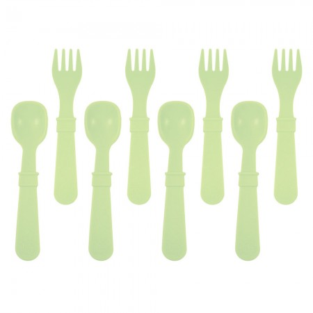 Re-Play Recycled Utensils (8pk) - Leaf